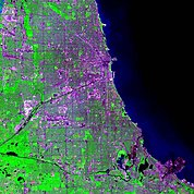 Map: Landsat Image: Chicago, U.S.A.