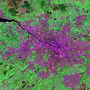 Map: Landsat Image: Glasgow, Scotland