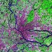 Map: Landsat Image: Guangzhou, China