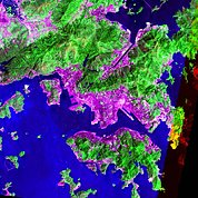 Map: Landsat Image: Hong Kong, China