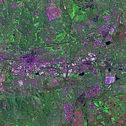 Map: Landsat Image: Johannesburg, South Africa