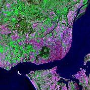 Map: Landsat Image: Lisbon, Portugal