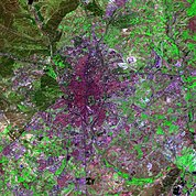 Map: Landsat Image: Madrid, Spain
