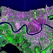 Map: Landsat Image: New Orleans, U.S.A.