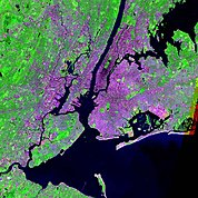 Map: Landsat Image: New York City, U.S.A.