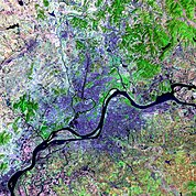 Map: Landsat Image: Pyongyang, North Korea