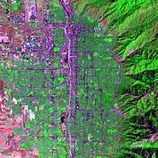 Map: Landsat Image: Salt Lake City, U.S.A.