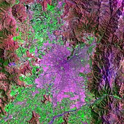 Map: Landsat Image: Santiago, Chile
