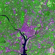 Map: Landsat Image: Washington DC, U.S.A.