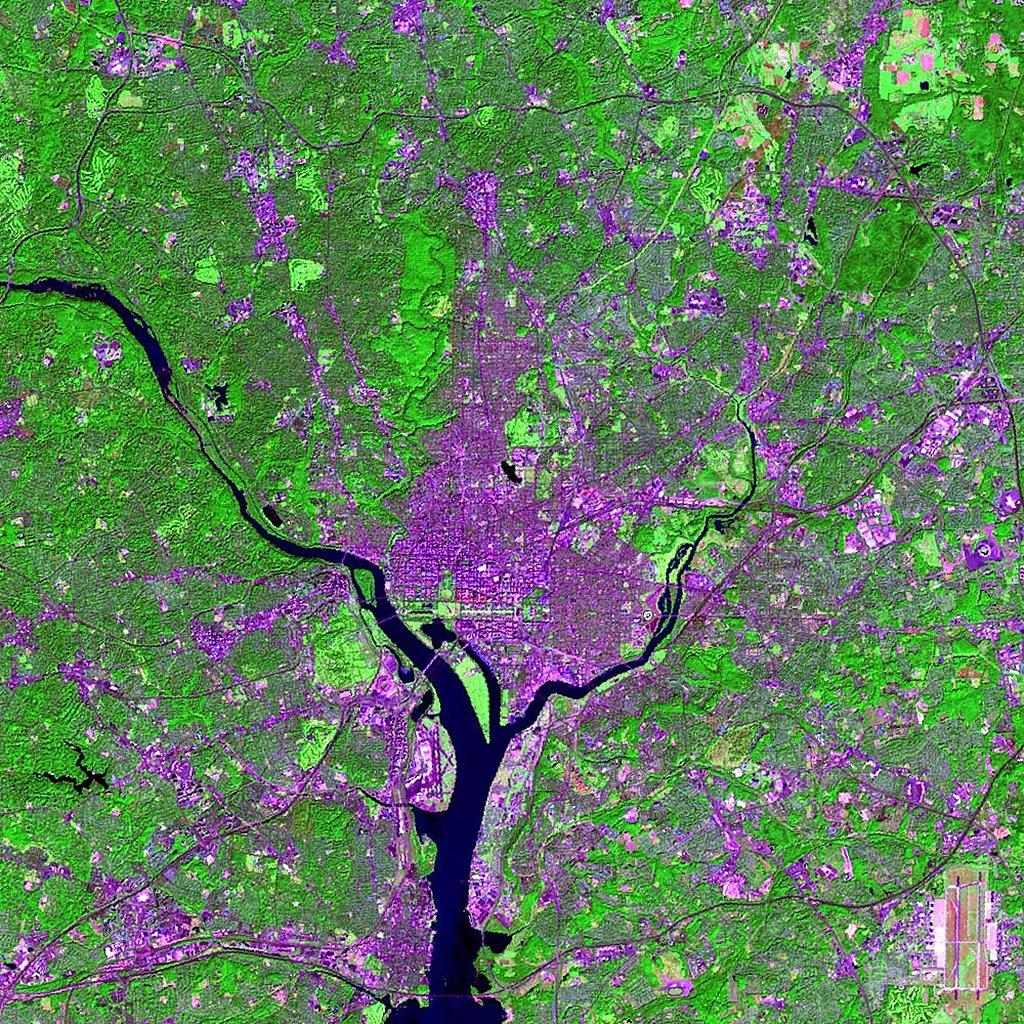 Landsat Image Washington Dc U S A