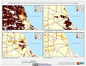 Map: Demographic & Socioeconomic Characteristics (2000): Chicago, IL