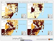 Map: Demographic & Socioeconomic Characteristics (2000): Miami, FL