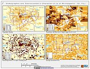 Map: Demographic & Socioeconomic Characteristics (2000): Minneapolis, MN