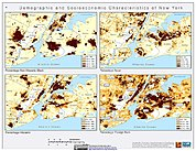 Map: Demographic & Socioeconomic Characteristics (2000): New York City, NY