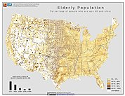 Map: % Elderly Population (2000): U.S.A.