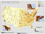 Map: Population Density (2000): U.S.A.