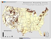 Map: % Seasonal Housing Units (2000): U.S.A.