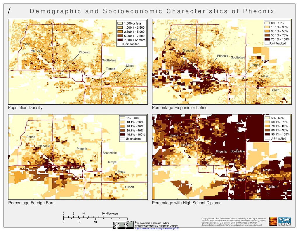 Maps » U.S. Census Grids | SEDAC Demographics Of Phoenix Map on cities of metro phoenix, thematic map of phoenix, political map of phoenix, demographic map california, demographic map texas, aerial of phoenix, racial map of phoenix, demographic map arizona, general map of phoenix, crime map of phoenix,