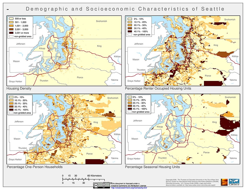 Urbanization And Human Settlements SEDAC - Urbanization map us