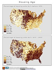 Map: % Housing Age (2000): U.S.A.