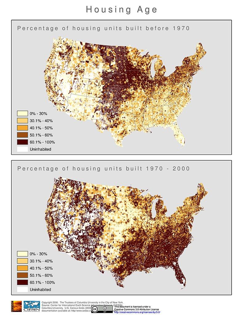Housing Age 2000 U S A