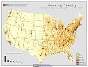 Map: Housing Density (2000): U.S.A.