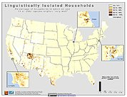 Map: % Linguistically Isolated Households (2000): U.S.A.