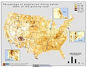 Map: % Population with Low Income (2000): U.S.A.