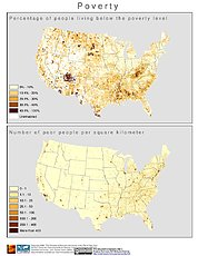 Map: Poverty (2000): U.S.A.