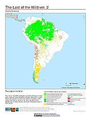 Map: Last of the Wild, v2: South America