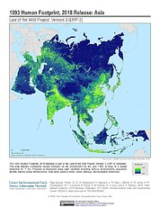 Map: Human Footprint (1993): Asia