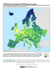 Map: Human Footprint (1993): Europe