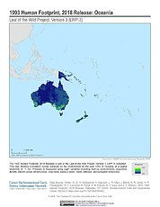 Map: Human Footprint (1993): Oceania