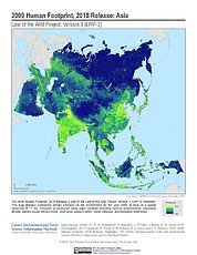 Map: Human Footprint (2009): Asia