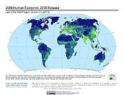 Map: Human Footprint (2009)