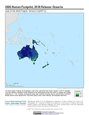 Map: Human Footprint (2009): Oceania
