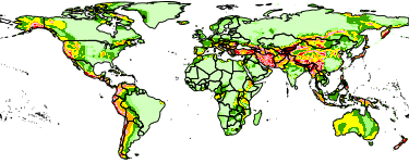 Maps » Global Earthquake Hazard Distribution - Peak Ground